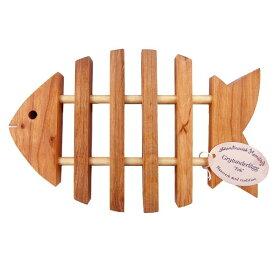 【エントリーで+3倍】鍋敷き 木製 かわいい魚のトリベット(なべしき)【メール便は送料無料】 zk 【202103-th】