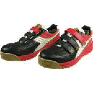 [プロテクティブスニーカー(JSAA A種認定)]ドンケル(株) ディアドラ DIADORA 安全作業靴 ロビン 黒/白/赤 25.0cm RB213-250 1足【422-6682】