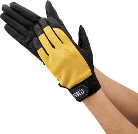 [合皮手袋]トラスコ中山(株) TRUSCO PU薄手手袋エンボス加工 イエロー LL TPUM-Y-LL 1双【400-4752】
