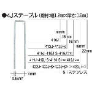 [エア釘打機(ステープル用)]マックス(株) MAX タッカ用ステンレスステープル 肩幅4mm 長さ16mm 5000本入り 416J-S 1箱(5000本入)【451-6699】
