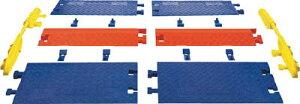 [ケーブルカバー]【送料無料】Justrite社 CHECKERS ランプ ラインバッカー ケーブルプロテクタ 重量型電線1本用 CPRP1X125 1本(2個入)【486-5855】