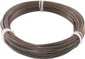 [針金(被覆タイプ)]トラスコ中山(株) TRUSCO カラー針金 ビニール被覆タイプ 2.0mmX25m ブロンズ TCWM-20BZ 1巻【759-2574】
