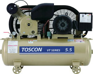 [レシプロコンプレッサー(オイルフリー)]【送料無料】東芝産業機器システム(株) 東芝 タンクマウントシリーズ オイルフリー コンプレッサ(低圧) VLT105-7T 1台【代引不可商品