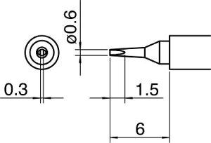 [ステーション型はんだこて]白光(株) 白光 こて先/0.6D型 T30-D06 1本【753-5210】