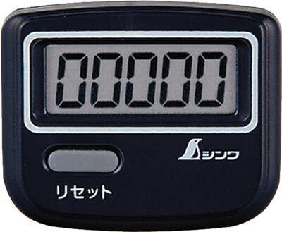 [歩数計]シンワ測定(株) シンワ 歩数計 ジョイウォーク Qブラック 74132 1個【816-4178】