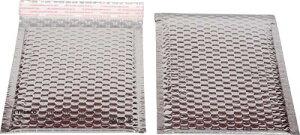 [気泡緩衝材(エアキャップ)]トラスコ中山(株) TRUSCO クッション封筒 アルミフィルム 190×175mm 10枚入パック TCF-190AL 1袋【818-9489】