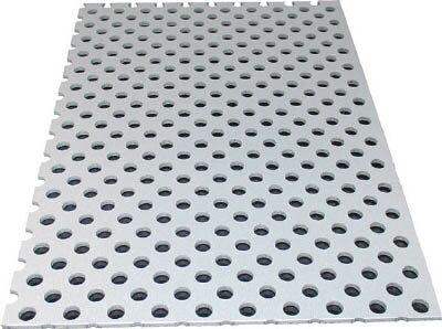 [アルミ板]アルインコ(株) アルミ型材センタ アルインコ アルミ複合板パンチ 3X600X450 シルバー CG46P-21 1枚【784-9826】