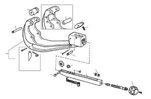 [チューブカッター用パーツ]Ridge Tool Compan RIDGE ロール ピン F/205,152 32112 1個【788-2106】