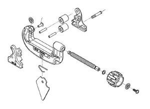 [チューブカッター用パーツ]Ridge Tool Compan RIDGE ロールハウジングスクリュー F/15SI 34615 1個【788-2467】