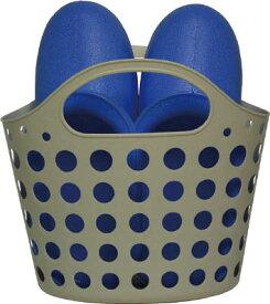 [洗濯・浴室用ブーツ](株)ミツギロン ミツギロン お風呂ブーツ バスケット ブルー BT-19B 1個【795-4476】