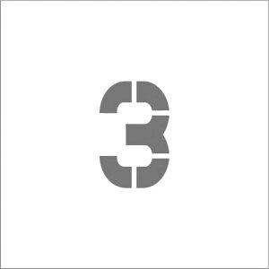 [マーキングプレート](株)アイマーク IM ステンシル マグネット 3 文字サイズ50×40mm ASTM35040 1枚【836-4172】