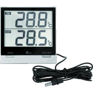 [温度計(外部センサー付)]シンワ測定(株) シンワ デジタル温度計SmartC_最高・最低_室内・室外防水外部センサー 73118 1個【855-1395】