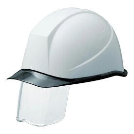 [シールド面付ヘルメット]ミドリ安全(株) ミドリ安全 PC製ヘルメット スライダー面付 透明バイザー SC-11PCLSRA-KP-W/S 1個【388-7901】