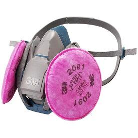 [取替式防じんマスク(RL3国家検定合格品)]スリーエム ジャパン(株) 3M 取替式防じんマスク 6500QL/2091−RL3 Mサイズ 6500QL/2091-RL3M 1個【494-6839】