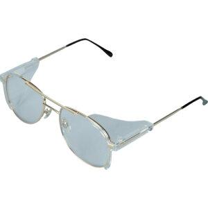 [二眼型保護メガネ(フレームタイプ)]トラスコ中山(株) TRUSCO 二眼型セーフティグラス メタルフレームタイプ MS-0106A 1個【819-1276】