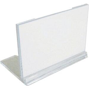 [カード立て](株)ミツヤ ミツヤ U型カード立中 透明 M17191           UC-2-T 1個【115-6783】