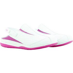 [静電作業靴]Cortina社 SAFETY J OXYPAS IRIS ストラップサンダル ライトピンク 25.5CM IRIS.FUX.255 1足【116-5734】