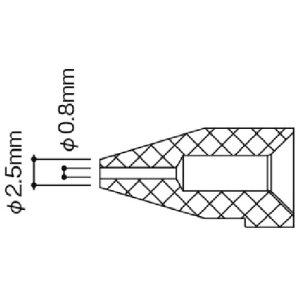 [はんだ除去器]白光(株) 白光 ノズル/0.8MM N50B03 1個【868-8333】