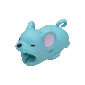 ガブッと充電! iPhone iPad iPod 充電ケーブル(ライトニングケーブル)用保護プロテクター 動物シリーズ(アニマル) ケーブルバイト(CABLE BITE) ネズミ(鼠) 1個【充電ケーブルは別売です】【_cb-mouse】