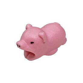 ガブッと充電! iPhone iPad iPod 充電ケーブル(ライトニングケーブル)用保護プロテクター 動物シリーズ(アニマル) ケーブルバイト(CABLE BITE) ブタ(豚) 1個【充電ケーブルは別売です】【_cb-pig】