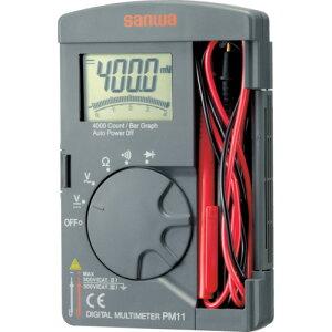 [デジタルテスタ]三和電気計器(株) SANWA ポケット型デジタルマルチメータ PM11 1個【333-5194】