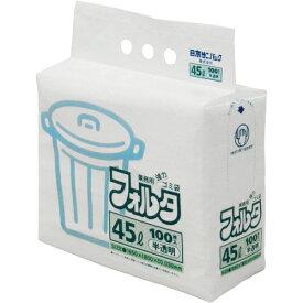 [ゴミ袋]日本サニパック(株) サニパック F−4H環優包装フォルタ45L白半透明 F-4H-HCL 1袋(100枚入)【303-7541】