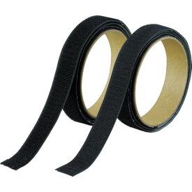 [結束テープ]トラスコ中山(株) TRUSCO マジックテープ[[R下]]強粘着幅25mm長さ1m黒(1巻=1セット) TMSD-25-BK 1S【361-9559】