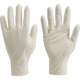[天然ゴム使い捨て手袋]トラスコ中山(株) TRUSCO 使い捨て極薄手袋 100枚入 L ホワイト TGL-493L 1箱(100枚入)【330-3675】