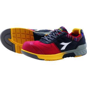 [プロテクティブスニーカー(JSAA A種認定)]ドンケル(株) ディアドラ 安全作業靴 ブルージェイ  レッド/ホワイト/ブラック 25.0cm BJ312250 1足【134-7404】