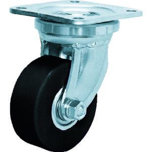 [プレート式重荷重用キャスター]シシクSISIKUアドクライス(株 シシク 低床超重荷重用キャスター 80径 ユニクロメッキ MCMO車輪 DHJ-80U-MCMO 1個【353-5029】