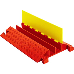[ケーブルカバー]【送料無料】Justrite社 CHECKERS ラインバッカー ケーブルプロテクタ 重量型 電線2本 CP2X325-Y/O 1本【490-4036】