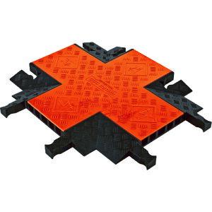 [ケーブルカバー]【送料無料】Justrite社 CHECKERS ガードドッグ 中重量型電線5本用クロス GDCR5X1255-O/B 1本【490-4427】