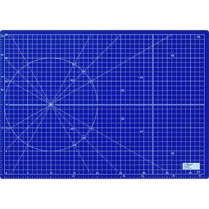 [カッティングマット]オルファ(株) OLFA ふたつ折りカッターマットA3 ネイビー 223BNV 1枚【495-7415】