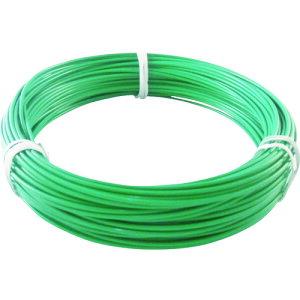 [針金(被覆タイプ)]トラスコ中山(株) TRUSCO カラー針金 ビニール被覆タイプ 2.0mmX25m 緑 TCWM-20GN 1巻【759-2582】
