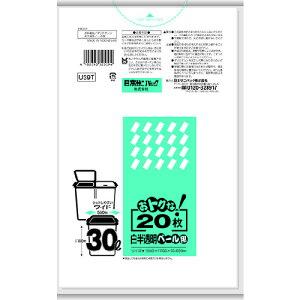[ゴミ袋]日本サニパック(株) サニパック おトクな!ペール用ゴミ袋 30L 白半透明 20枚 U39T 1冊【137-1827】