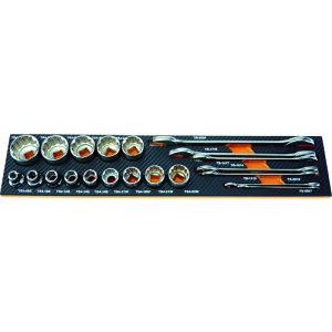 [整備用工具セット]トラスコ中山(株) TRUSCO EVAフォーム 黒×オレンジ 3段式工具箱用 TPT55SF1 1枚【856-6746】