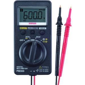 [デジタルテスタ]三和電気計器(株) SANWA ポケット型デジタルマルチメータ PM300 1台【859-8059】