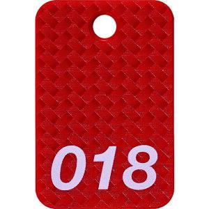 [荷札]オープン工業(株) OP 番号札 四角 大 番号入り1〜25 赤 (25枚入) BF-80-RD 1箱【149-1634】