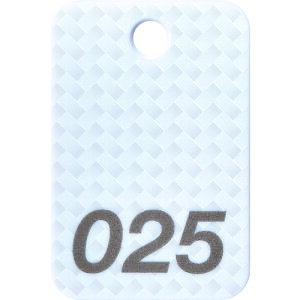 [荷札]オープン工業(株) OP 番号札 四角 大 番号入り1〜25 白 (25枚入) BF-80-WH 1箱【149-1635】