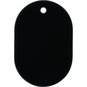 [荷札]オープン工業(株) OP 番号札 小 無地  黒 (25枚入) BF-41-BK 1箱【149-1689】