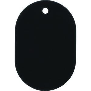 [荷札]オープン工業(株) OP 番号札 大 無地  黒 (25枚入) BF-40-BK 1箱【149-1690】
