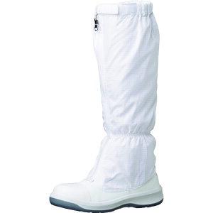 [クリーンルーム用シューズ]ミドリ安全(株) ミドリ安全 トウガード付 静電安全靴 GCR1200 フルCAP フード ホワイト 27.0cm GCR1200FCAP-H-27.0 1足【149-3670】