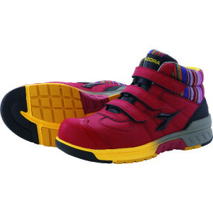 [プロテクティブスニーカー(JSAA A種認定)]ドンケル(株) ディアドラ 安全作業靴 ステラジェイ 赤/黒 25.5cm SJ32255 1足【149-4752】