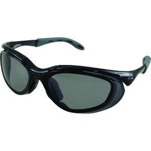 [機能グラス(サングラス)]山本光学(株) YAMAMOTO 2眼形保護めがね 偏光レンズモデル YS-390 PSMK BLK 1個【207-2818】