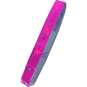 [たすき](株)ミズケイ ミズケイ LED付き反射タスキ「たすけ帯」<ピンク> 3301510 1本【195-2972】