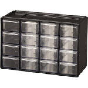 [小型パーツケース]アイリスオーヤマ(株) IRIS パーツ収納 パーツキャビネット PC−30 ブラック PC-30-BK 1台【305-3806】
