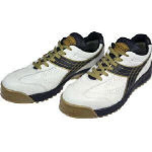 [プロテクティブスニーカー(JSAA A種認定)]ドンケル(株) ディアドラ DIADORA 安全作業靴 ピーコック 白/黒 28.0cm PC12-280 1足【388-1695】