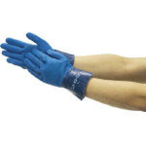 [ニトリルゴム手袋(裏布付)]ショーワグローブ(株) ショーワ ニトリルゴム手袋 No750ニトロ−ブ ブルー LLサイズ NO750-LL 1双【253-3570】