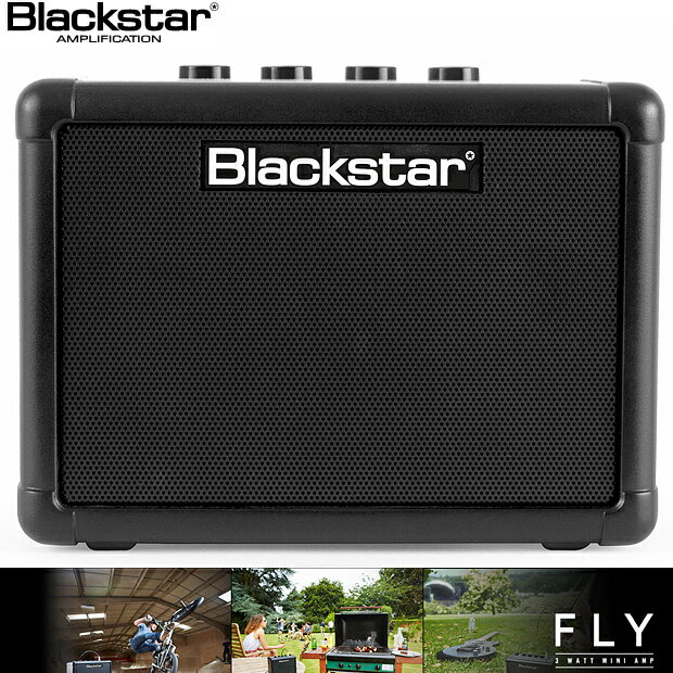 Blackstar FLY 3 A battery powered mini guitar amp and portable speaker(3W)/ブラックスター・電池駆動・コンパクト・エレキギターアンプ【送料無料】【smtb-KD】【楽ギフ_包装選択】【楽ギフ_のし宛書】【RCP】:-as-p5