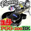 アンプ内蔵コンパクトなエレキギター超オトクな14点セット!/Pignose PGG-200 BK=BLACK(ブラック)+小物13点/PGG200…